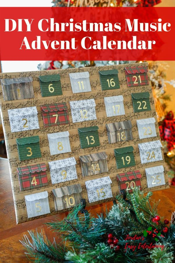 DIY Christmas Music Advent Calendar