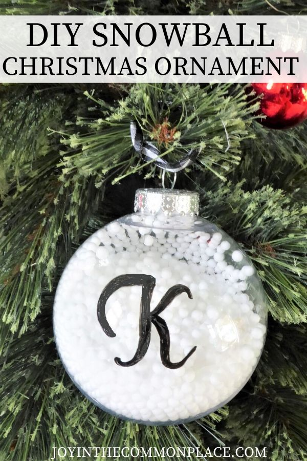 a diy Christmas ornament photo with text overlay