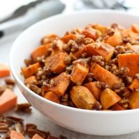 Brown Sugar Pecan Roasted Sweet Potatoes
