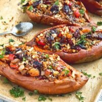 Savory Twice Baked Sweet Potatoes Recipe For Thanksgiving