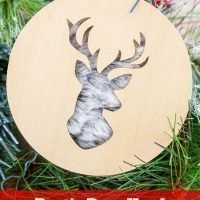 Rustic Deer Head DIY Christmas Ornament Tutorial