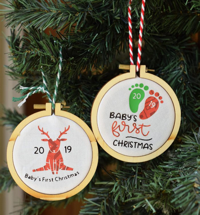 Personalized Baby's First Christmas Ornament with Cricut Explore Air 2