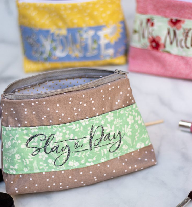 Personalized Makeup Bags With a Cricut Maker! - Leap of Faith Crafting
