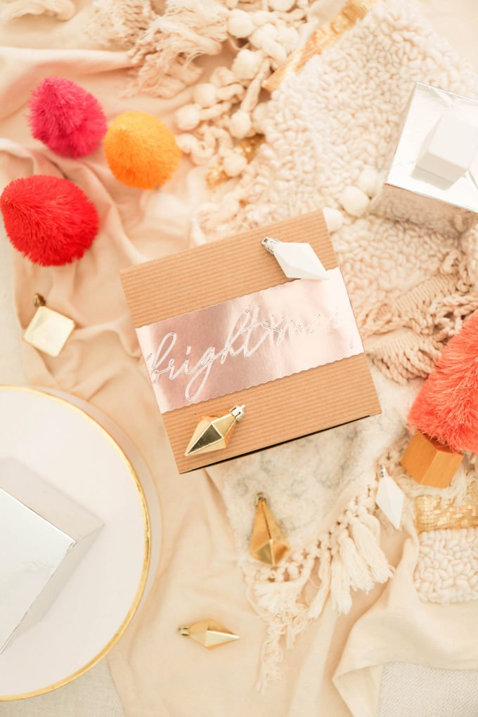 DIY Gift Wrap with Debossed Foil & Personalized Holidays Cricut Maker