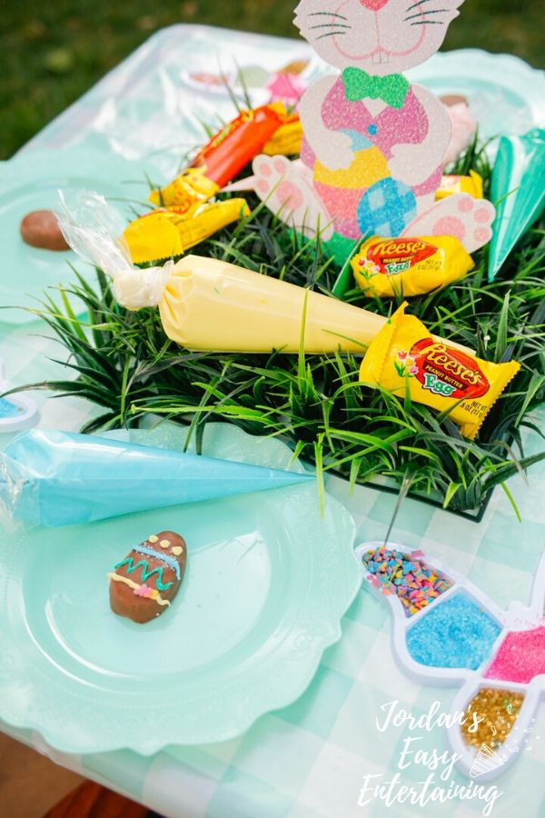 chocolate eggs for an easy at home Easter activity for kids