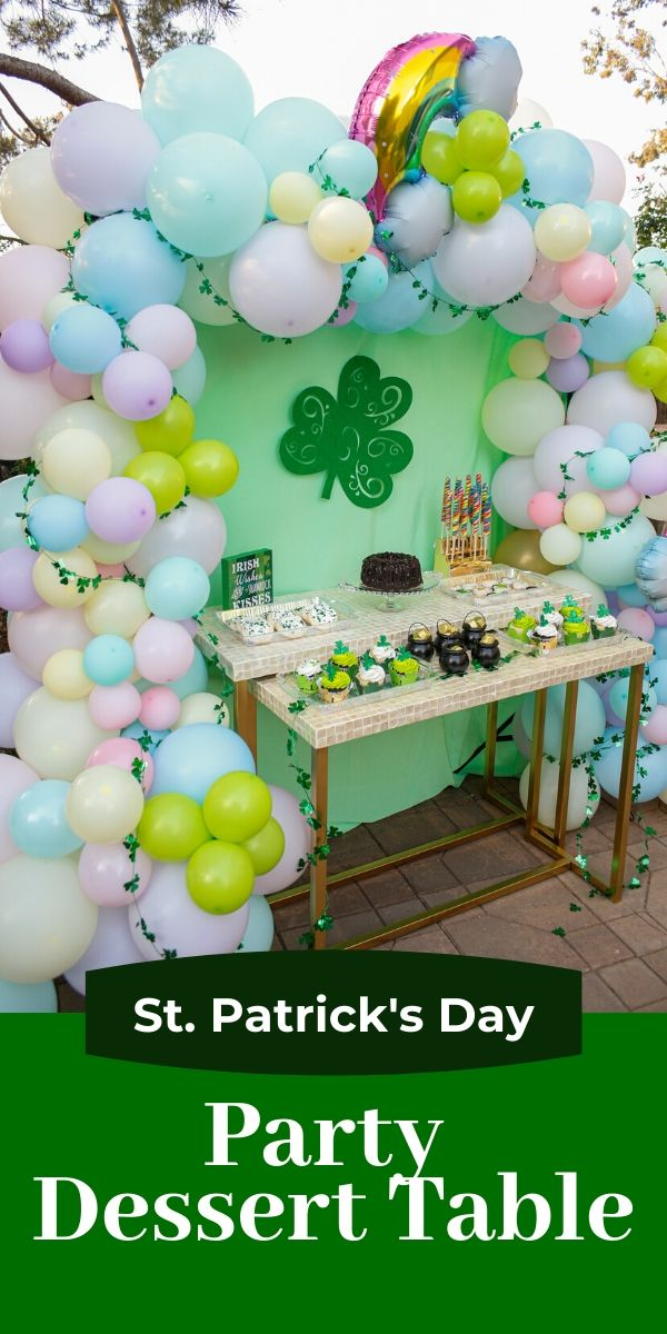 Saint Patrick's Day dessert table