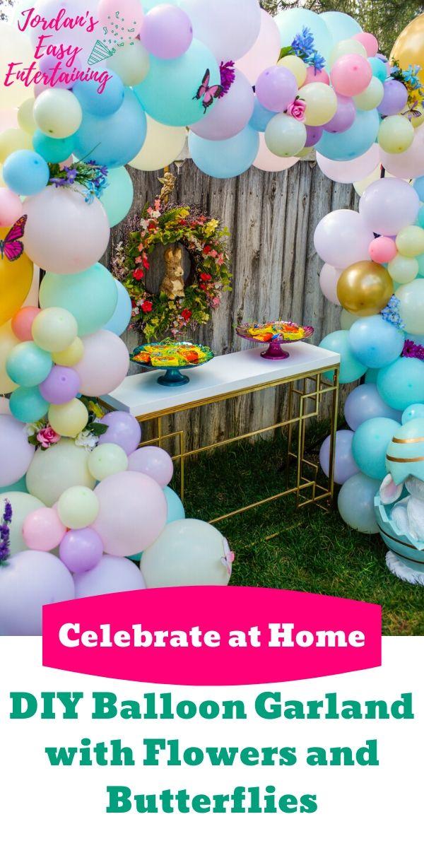 an easy diy balloon garland