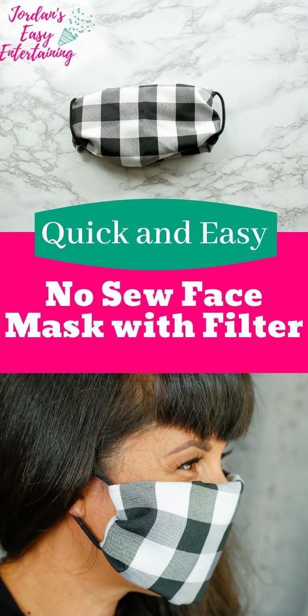 an easy face mask with a filter