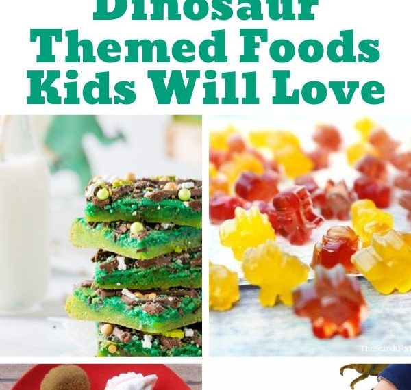 a roundup of fun dinosaur foods for kids
