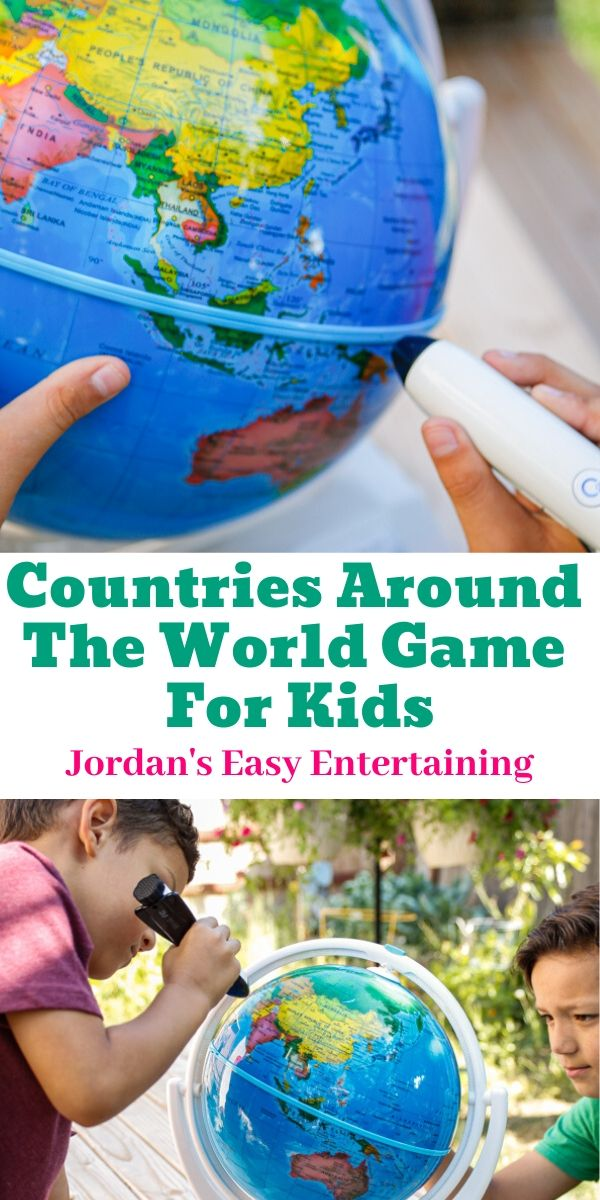 playing a countries around the game with an interactive globe