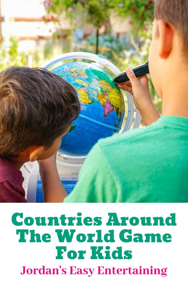 kids playing a countries around the world game