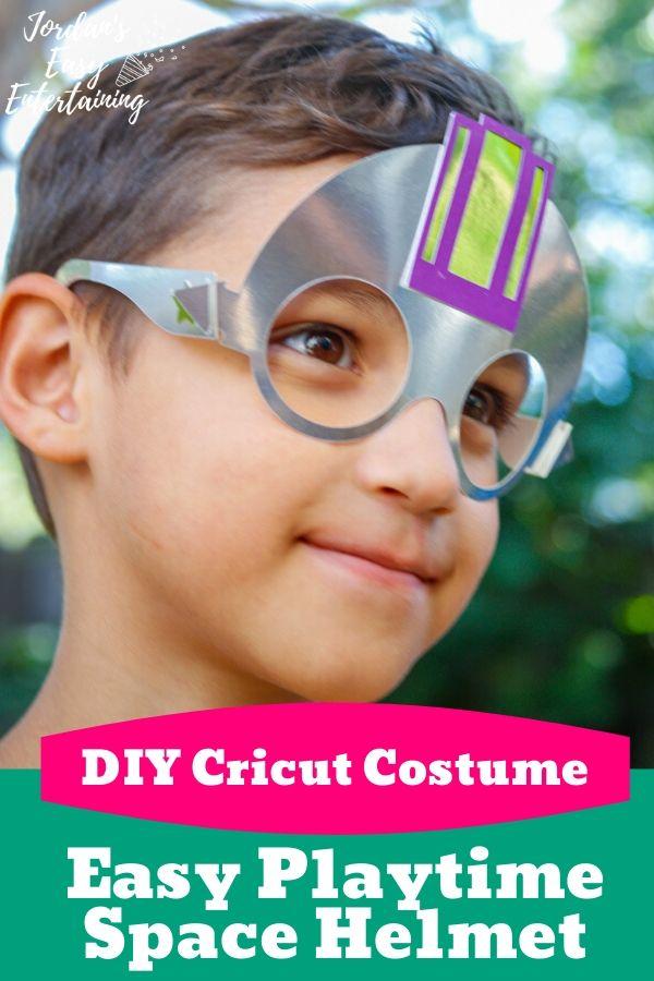 I costume space helmet made with a Cricut Maker