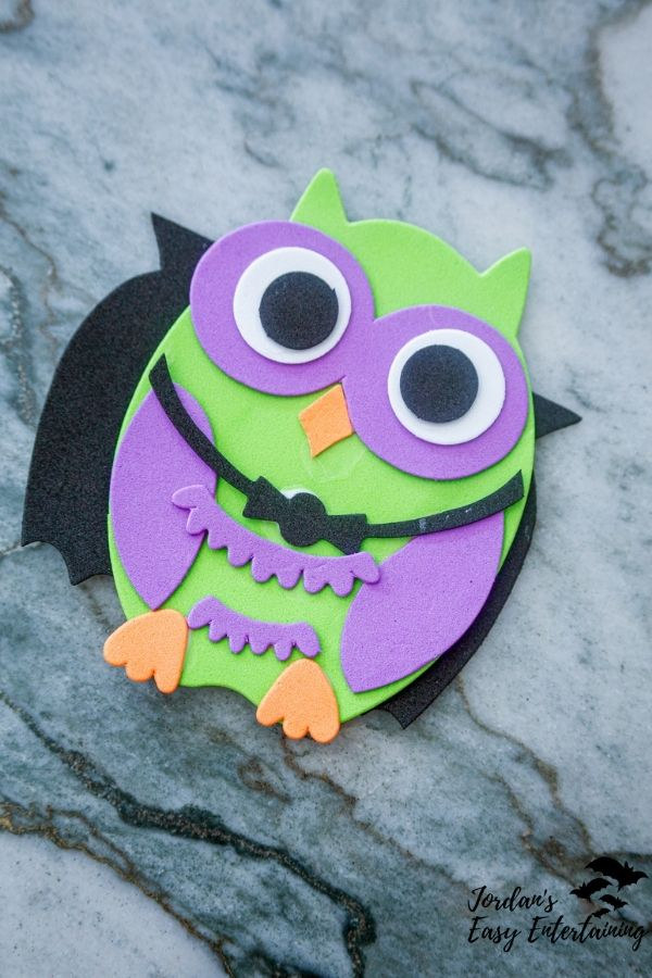 owl foam craft kit from Dollar Tree