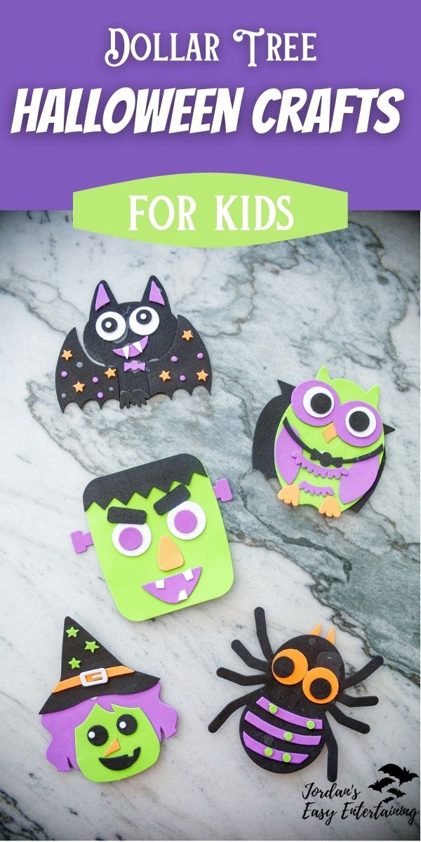 dollar tree halloween crafts for kids