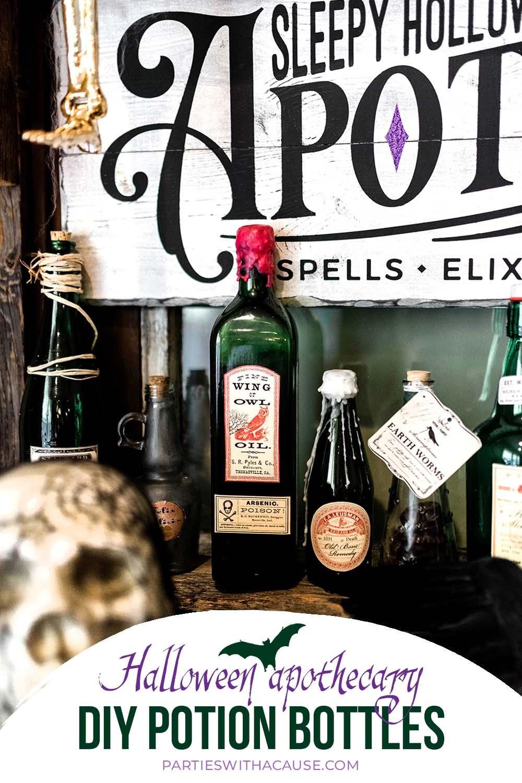 a diy potion bottle