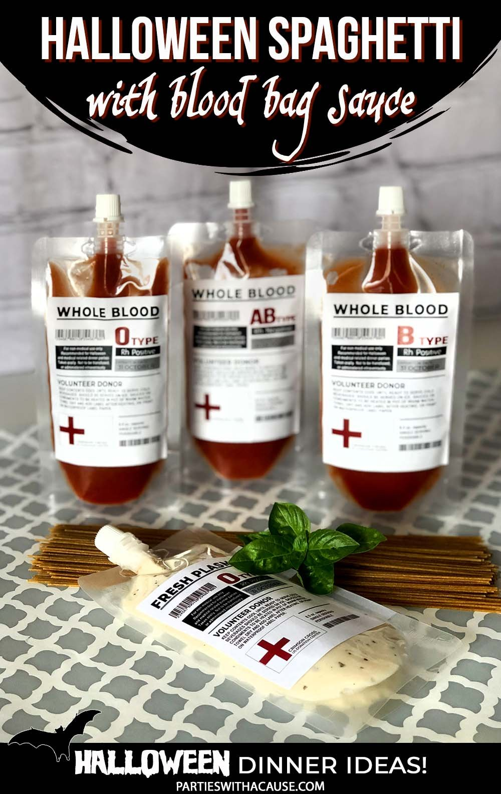 blood bag spaghetti sauce