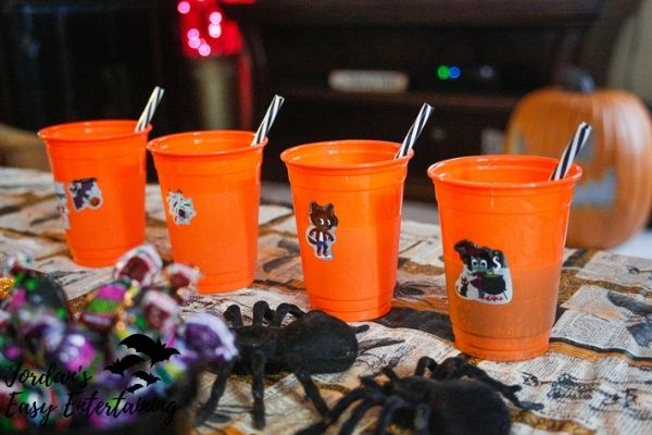 Halloween cups with stickers