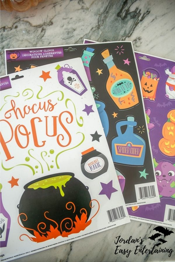 window clings to use for car decorations for Halloween parades