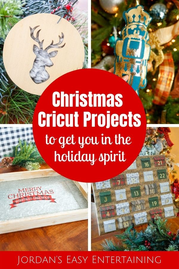 Christmas Cricut projects including ornaments, decor, and gifts